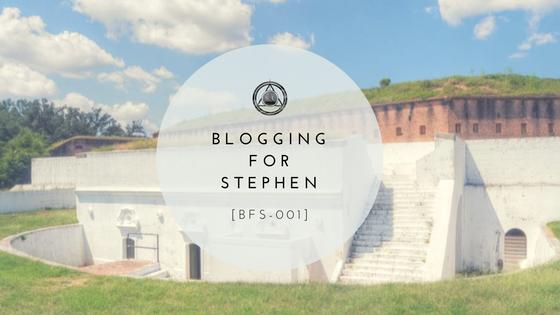 [BFS-001] Blog forStephen